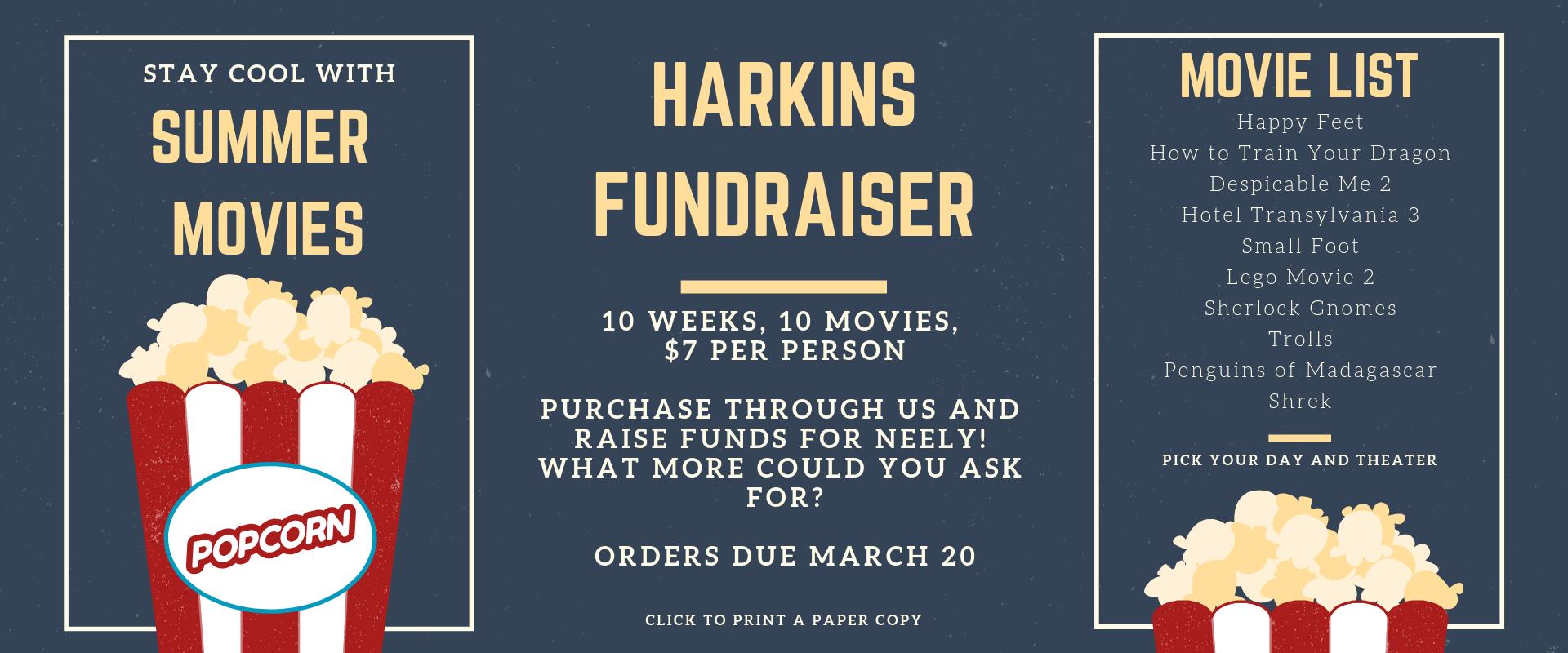 Harkins Summer Movie Fun - Due March 20 @3:30pm